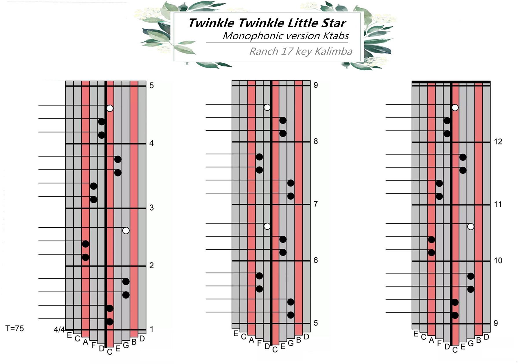 Ranch Beginners Kalimba Lesson 3 Twinkle Twinkle Little Star