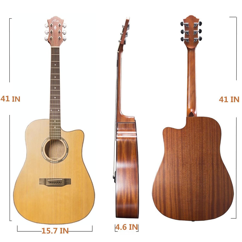 ranch acoustic guitar cutaway for starter beginner guitar ukulele