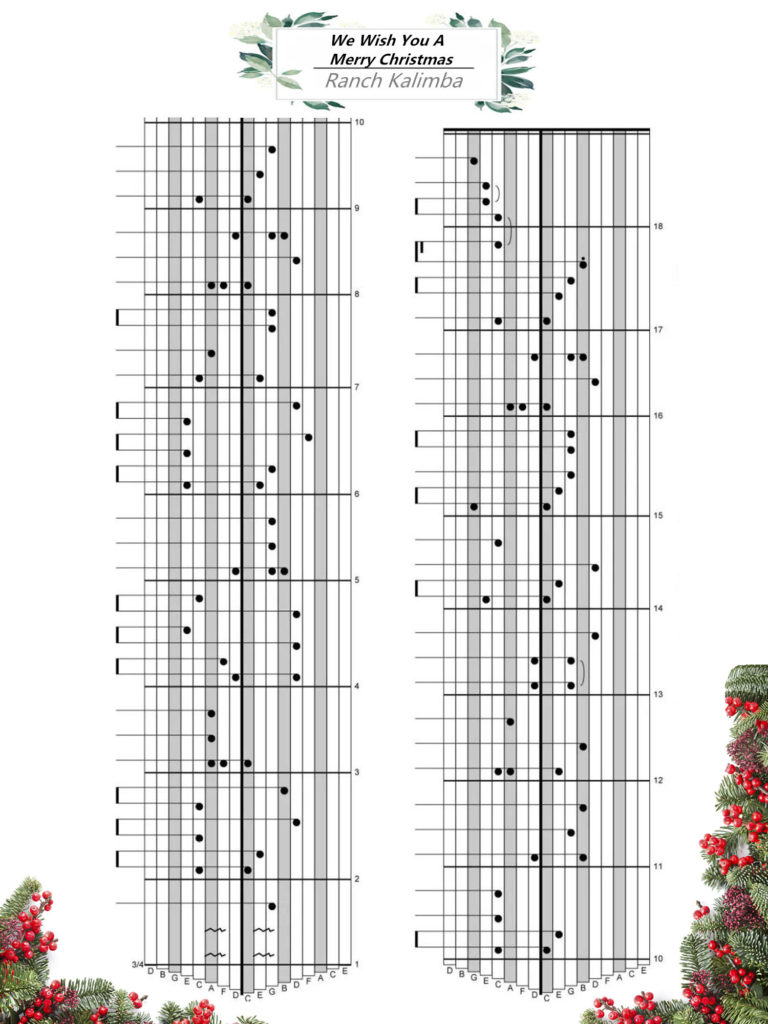 We Wish You A Merry Christmas Ukulele Chords.Merry Christmas Ranch Kalimba We Wish You A Merry Christmas